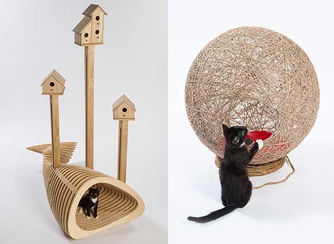 architectes los ángeles maisons chats rue fixnation, Pour les Chats Errants des Architectes de LA Créent des Abris de Style