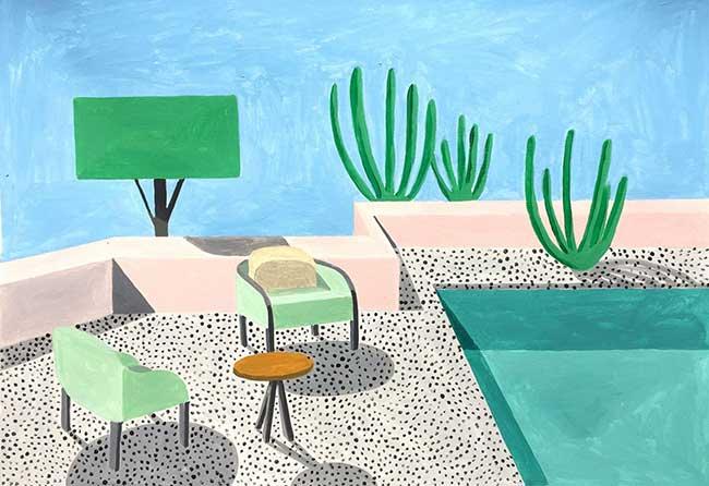 anna popescu villas Bauhaus illustration