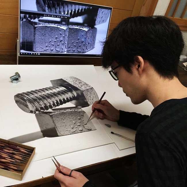 kohei ohmori kohei6620 portraits crayon realisme 3 - 250 Heures pour Dessiner des Portraits Hyper Réalistes au Crayon