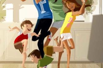 illustration petits bonheurs famille Pascal Campion