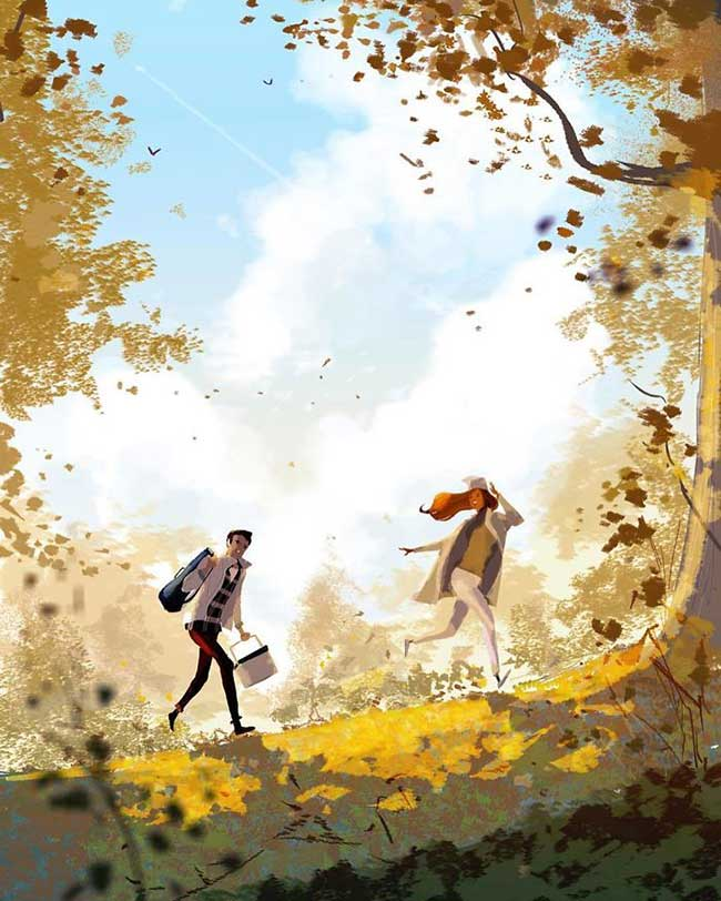 illustration petits bonheurs famille Pascal Campion, Petits Bonheurs en Famille Amoureusement Illustrés par Pascal Campion