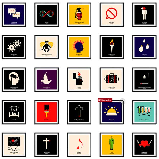 Viktor Hertz Pictogramme, Les Iconiques Pochettes de Vinyles Revisitées en Pictogrammes