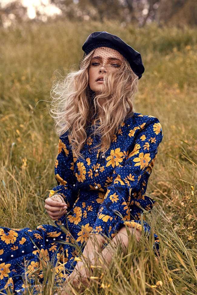 robe tendance mode fleurs romantique, Les Robes en Fleurs Donnent à la Mode Elégance et Romantisme