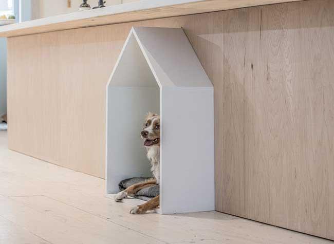 renovation maison chien espace niche, Un Espace pour le Chien a été Conçu lors de la Rénovation de cette Maison
