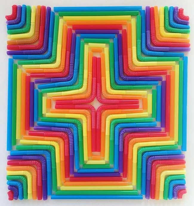 adam hillman arrangements geometrique objets quotidiens, Surprenantes Compositions Géométriques des Objets du Quotidien