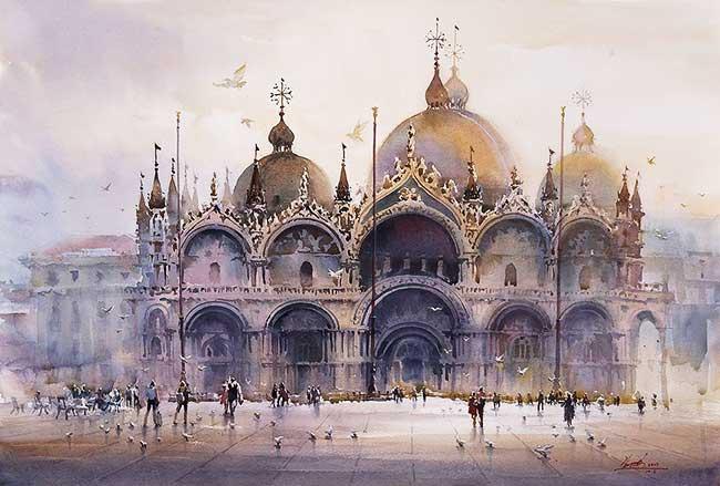 aquarelles villes monde kwan yeuk pang, Ses Lumineuses Aquarelles Urbaines Illustrent ses Voyages Autour du Monde