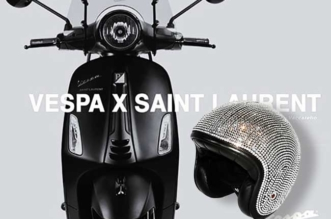 Scooter Vespa Saint Laurent Casque
