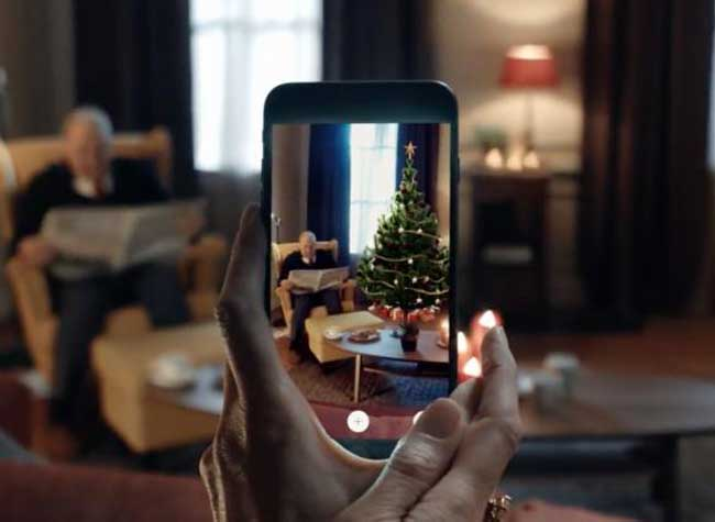 ikea place sapin noel realite augmentee iphone