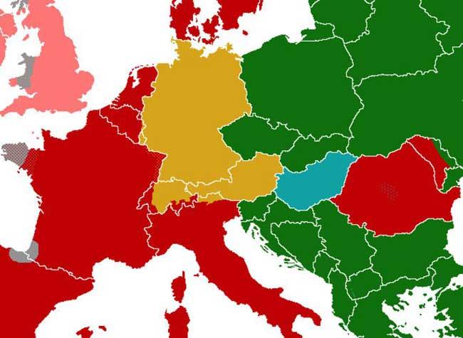 langues carte europe faciles