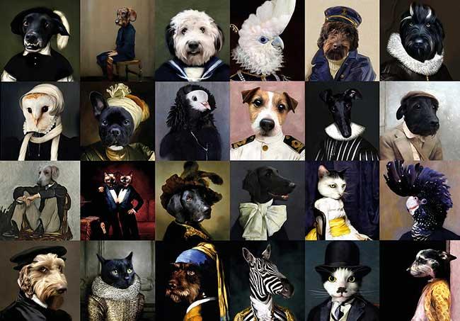 lanimorphe portrait photo animaux chien chat costume 1 - Offrez à votre Chien et Chat un Portrait en Costume d'Epoque