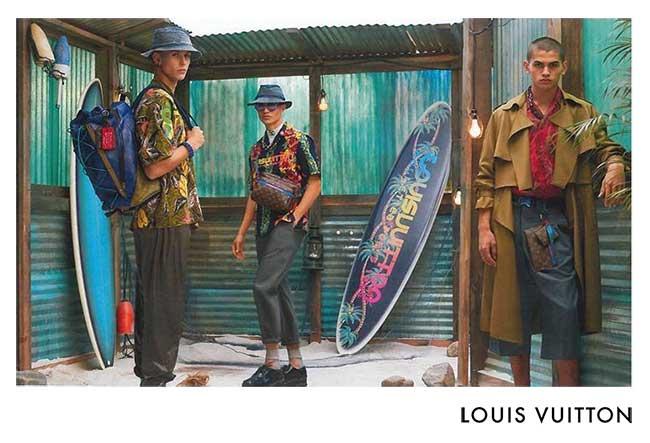 louis vuitton homme campagne ete 2018, L'Ete Prochain l'Homme Louis Vuitton se Met au Surf