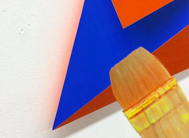 momo yoshino peintures art 3d, Ces Feuilles de Papier Pliées de Couleur sont des Peintures 3D