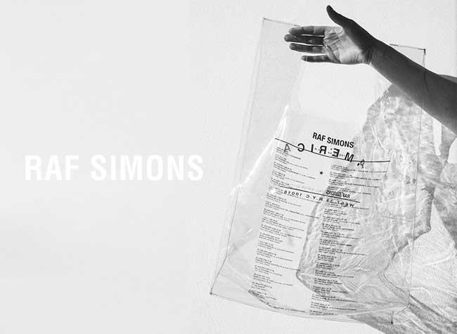Sac Plastique Raf Simons Luxe, Beaufitude Attitude, un Sac Plastique à 200 € Signé Raf Simons