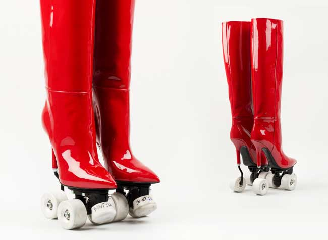 saint laurent rollers bottes femmes, Oubliez les Rollers-Stilettos voici les Bottes Rollers Saint Laurent