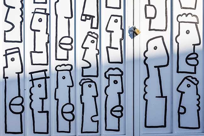 Thierry Noir Street Art Loas Angeles, Poétiques et Minimalistes les Fresques Urbaines de Thierry Noir