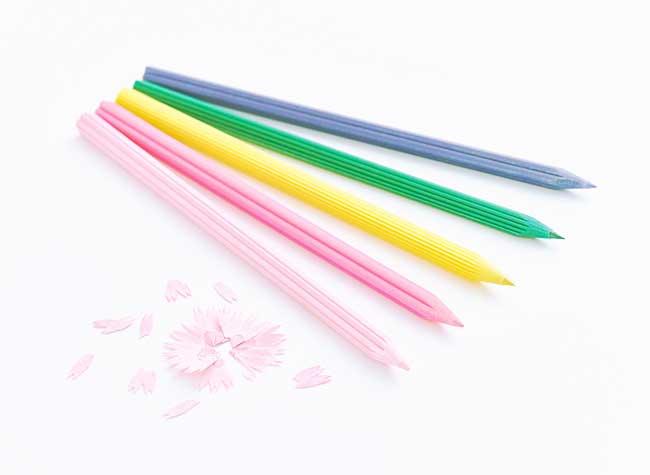 crayons couleur fleurs japon