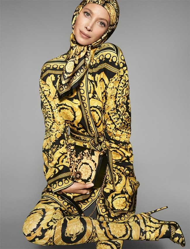Super Modèles Versace 2018 Jeunes Chez Printemps Tops Et Ete Femme Qdtrsh