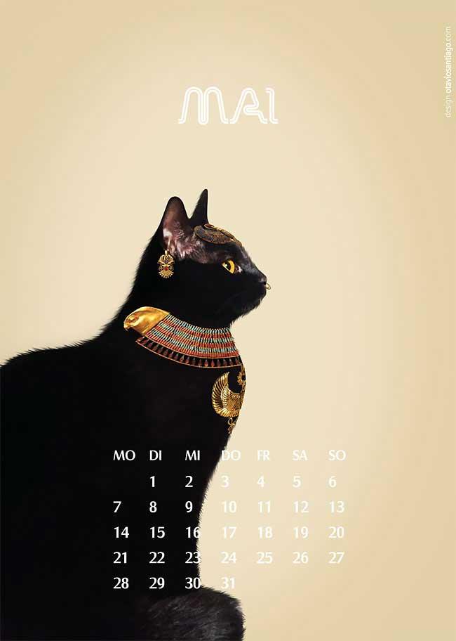 zwei katzen otavio santiago calendrier chat gratuit, Ce Calendrier de Chats Gratuit va vous Faire Oublier celui du Facteur