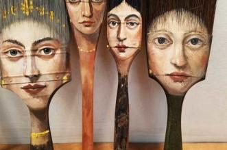 alexandra dillon art portraits recyclage pinceaux