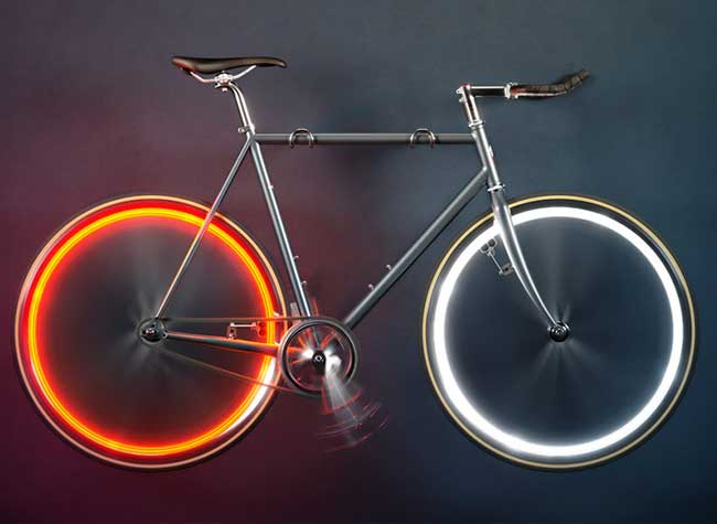 arara-bike-lights-lampe-led-roue-velo-neon, Sans Batterie, Arara Illumine les Roues de votre Vélo (video)