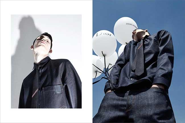 Dior Homme Denim Ete 2018 Campagne, Costume Cravate en Jean pour l'Homme Dior l'Ete Prochain (video)