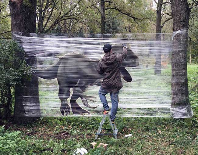 Evgeny Ches Street Art Foret