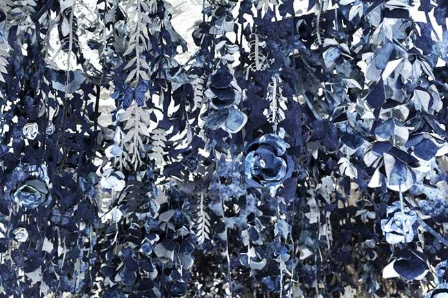 ian berry instalaltion art jeans secret garden