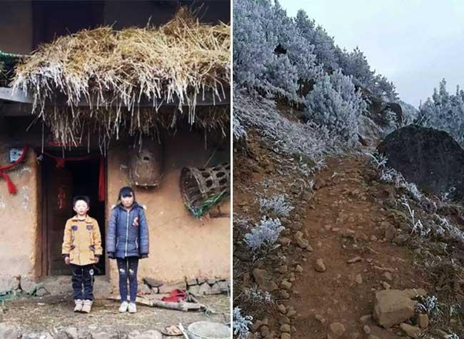 ice boy garcon gele ecole wang fuman chine froid, A 8 ans il Marche 4,8 Km dans un Froid Glacial pour Arriver Gelé à l'Ecole (video)