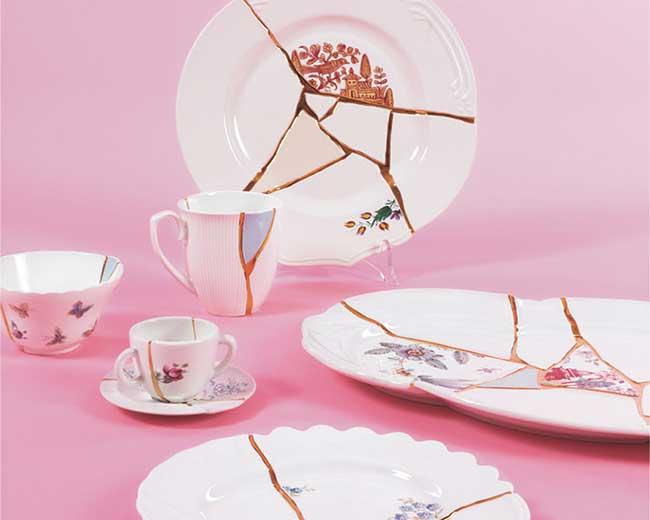 Vaisselle Porcelaine Cassée kintsugi