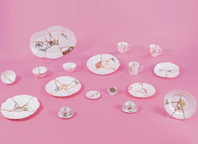 marcantonio kintsugi seletti vaisselle cassee luxe 2 - Insolite, la Vaisselle en Porcelaine Cassée puis Recollée avec de l'Or