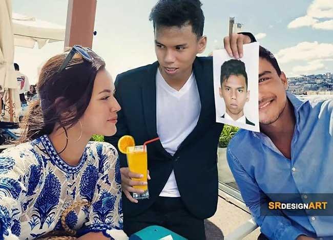 montage photo celebrite syahril ramadhan photoshop, Il s'Incruste sur les Photos des Célébrités et le Résultat est Hilarant