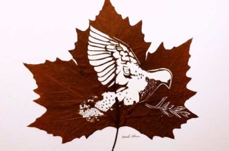 omid asadi leaf art feuilles sculptures