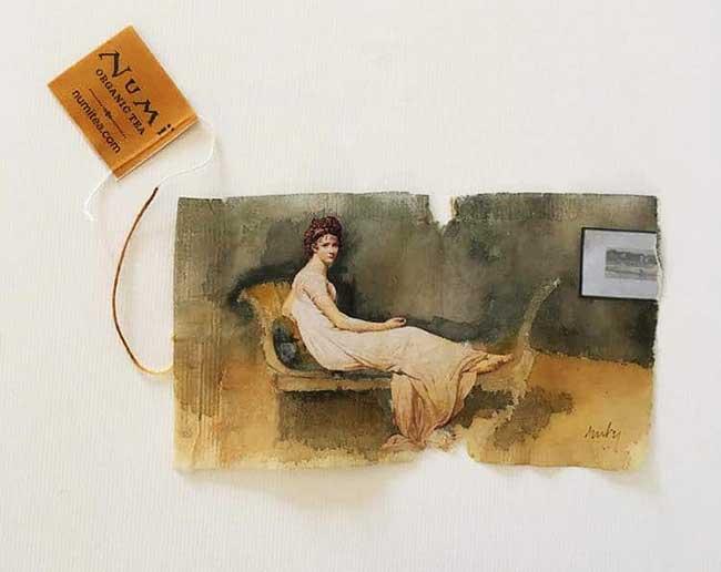 peintures miniatures sachet the ruby silvious 8 - Elle Illustre son Quotidien en Peintures Miniatures sur des Sachets de Thé Usagés