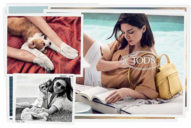 tods campagne femme ete 2018, Un Eté à Malibu pour Kendall Jenner Egérie de Tod's