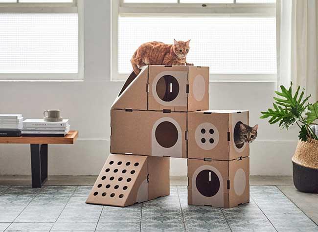 cat thing meubles modulables chats, Votre Chat va Adorer ces Astucieux Meubles Modulables en Carton
