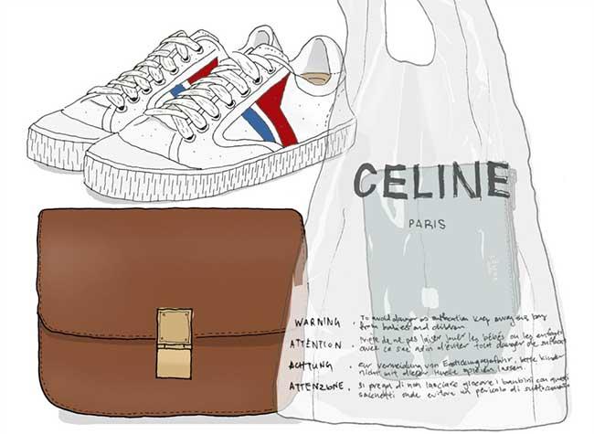 celine sac plastique transparent luxe 1 - Celine Paris Revisite en Version Chic le Sac en Plastique