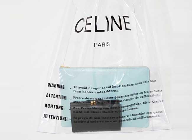 celine sac plastique transparent luxe, Celine Paris Revisite en Version Chic le Sac en Plastique