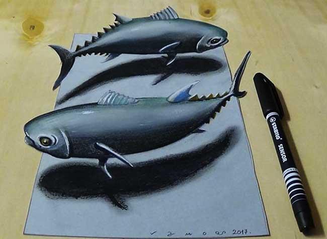 illustrations 3d crayons vamosart sandor vamos, Voici Comment Réaliser des Illustrations 3D au Crayon à Papier (video)