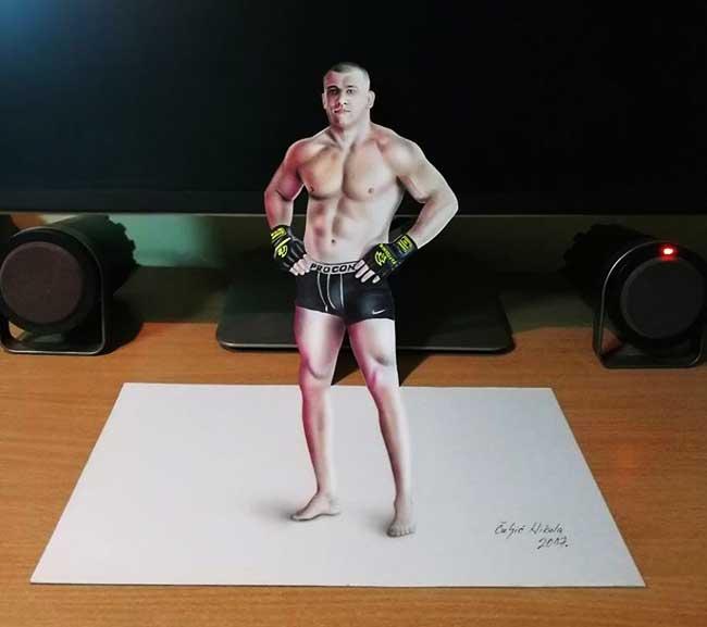 illustrations 3d trompe-oeil-nikola culjic, Spectaculaires Illustrations 3D en Anamorphose et en Couleur