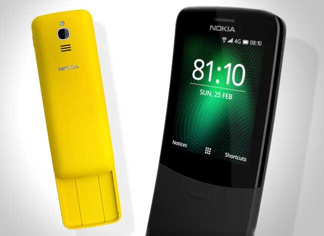 nokia 8110 nouveau jaune noir 2018, Nokia Réinvente son Iconique Téléphone 8110 vu dans Matrix