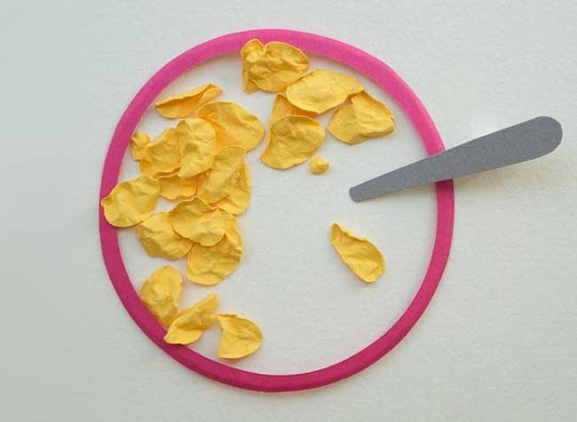 Reina Takahashi Reinasaur Art Papier, Les Petits Déjeuners en Papier de l'Artiste Reina Takahashi