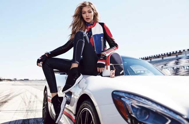 tommyxgigi tommy hilfiger ete 2018 campagne, Gigi Hadid en Pilote Automobile pour TommyxGigi Eté 2018