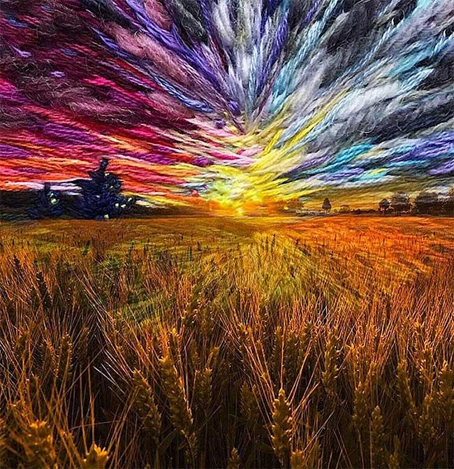 broderie art paysage vera shimunia 4 - Méticuleuses Peintures Paysagistes Entièrement Brodées