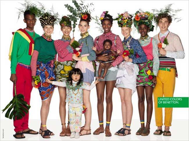 Campagne Benetton Femme Homme Enfant Ete 2018, Benetton Fait le Plein de Couleurs et de Fleurs pour l'Ete