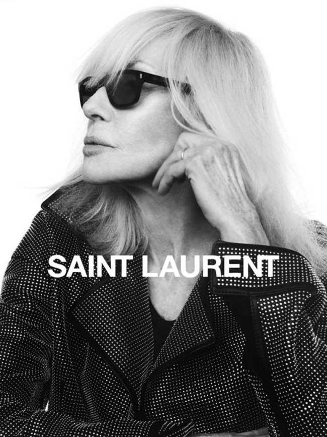 campagne saint laurent betty catroux hiver 2018 2019, A 73 Ans Betty Catroux Rejoue la Muse pour Saint Laurent