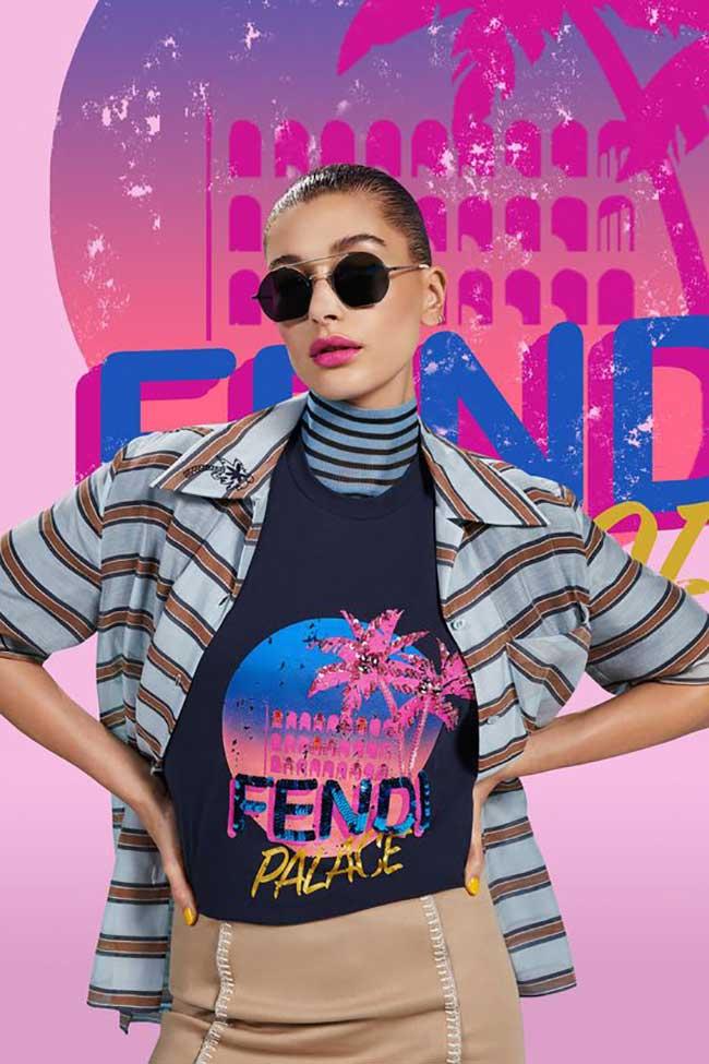 fendi pop tour tee shirts campagne printemps ete 2018, L'Ete Prochain Fendi donne à Rome des Airs de Californie