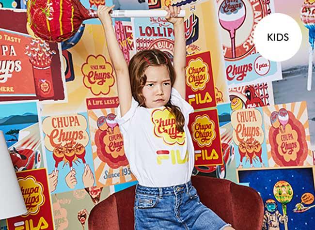 fila chupa chups collection capsule ete, FILA s'Affiche en Sucettes pour Chupa Chups