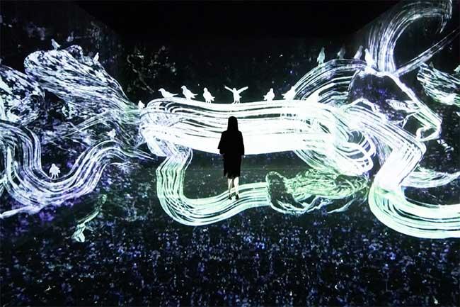 installation art teamlab la villette paris 3 - Cascades de Lumière pour une Installation d'Art à Paris
