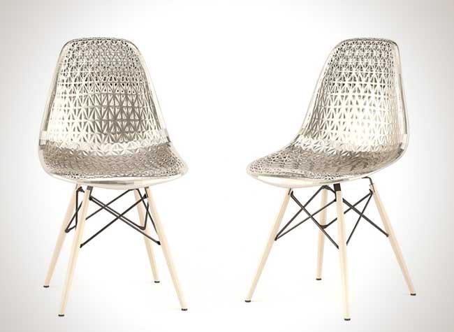 john briscella chaise metal imprimees 3d eames, La Chaise Eames Revisitée en Impression 3D et en Metal