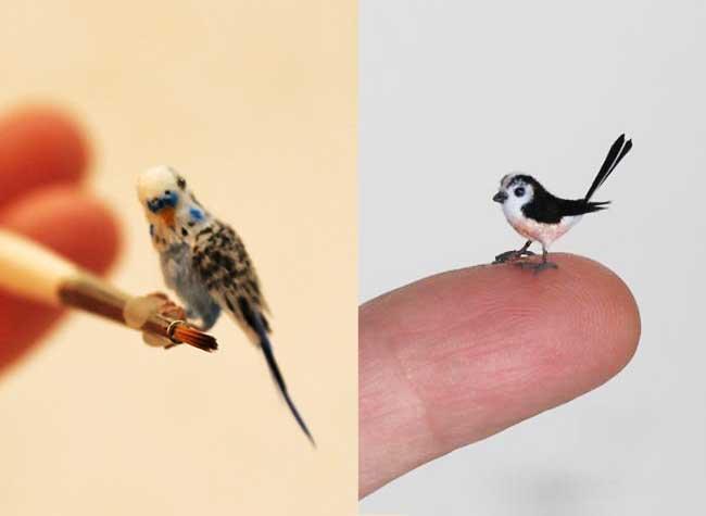 oiseaux sculptures miniatures katie doka 6 - Fantastiques Sculptures Réalistes d'Oiseaux Miniatures